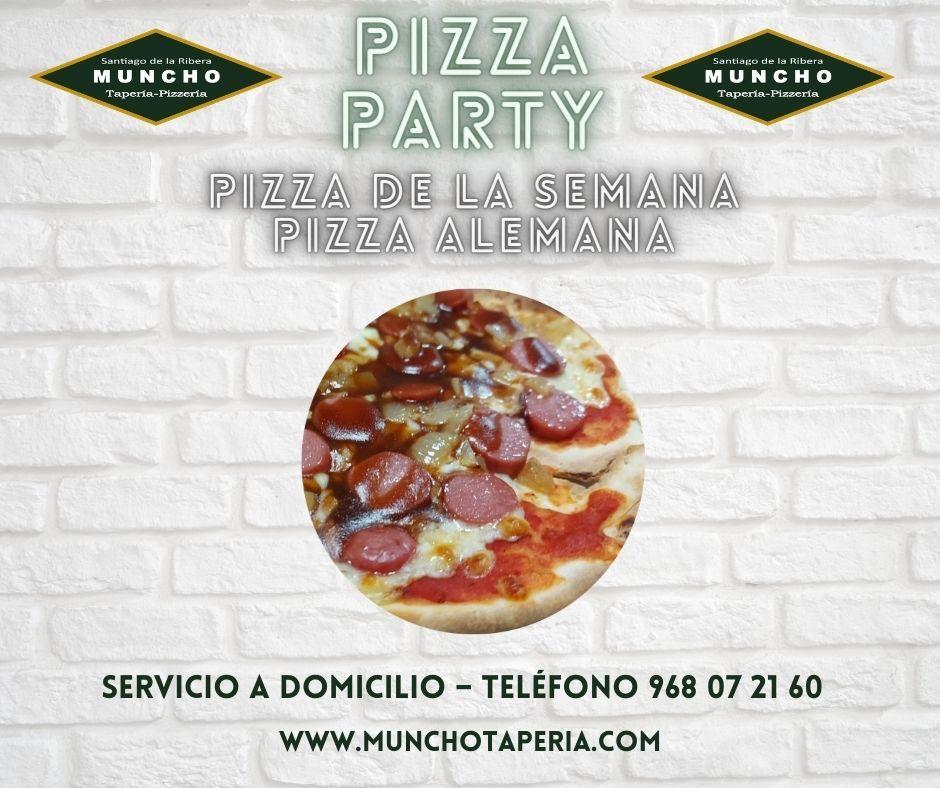 ¡Pizza Alemana la nueva pizza de la semana en MunchoTapería!