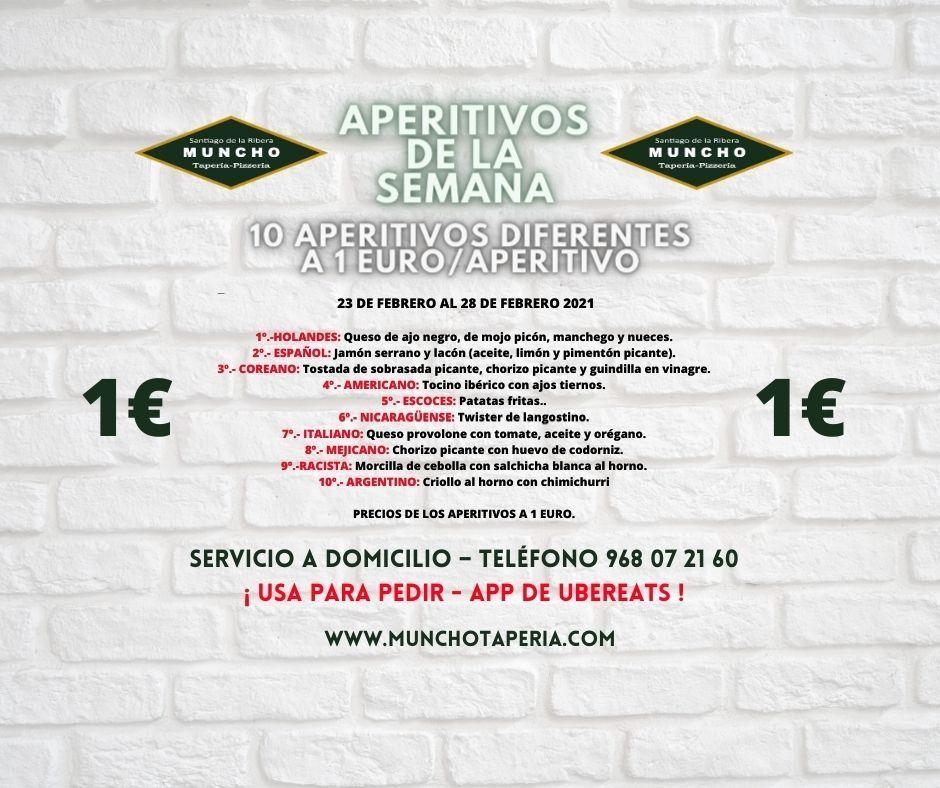 Semana de aperitivos a 1€ en MunchoTaperia.com