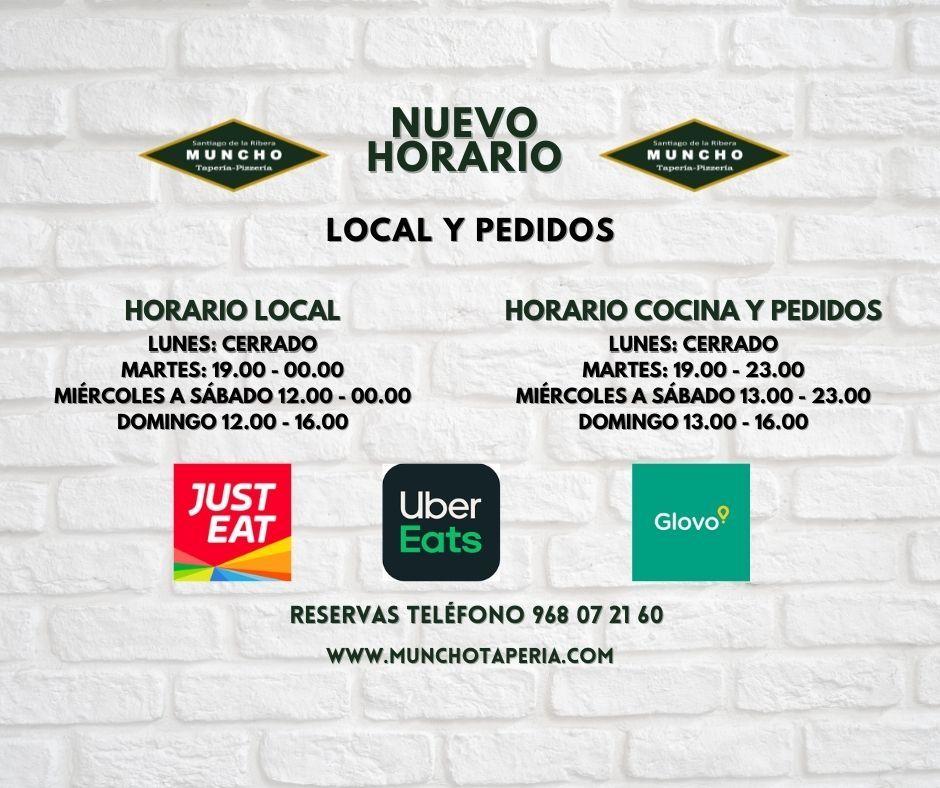 Nuevo horario de Muncho Taperia